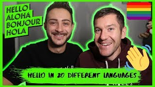 """How To Say """"HELLO!"""" In Different Languages   Gay Couple Vlog   JJ Extra"""