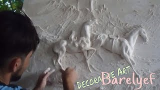 How To Make Bas Relief Sculpture   #decorative Art Play