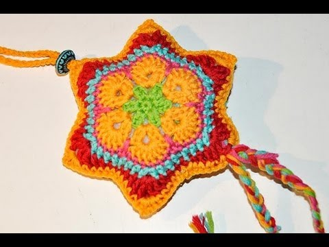 Advent Calendar December 13 Crochet Star African Flower Youtube
