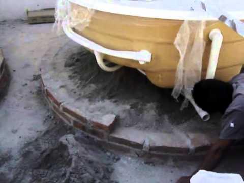como instalar una tina de hidromasaje en una casa acomodo y nivelacion