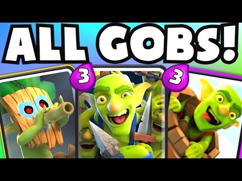 ALL GOBLIN DECK | Clash Royale BEST LOW COST CHEAP CYCLE DECK STRATEGY (TROLL GOBLIN GANG DECK)
