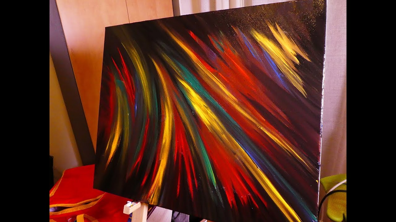 How To Paint Easy Contemporary Abstract Art On Canvas ...
