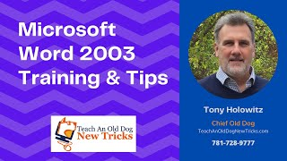 Microsoft Word 2003 Tips and Tricks: Tip 4 -Eight Ways to Select Text