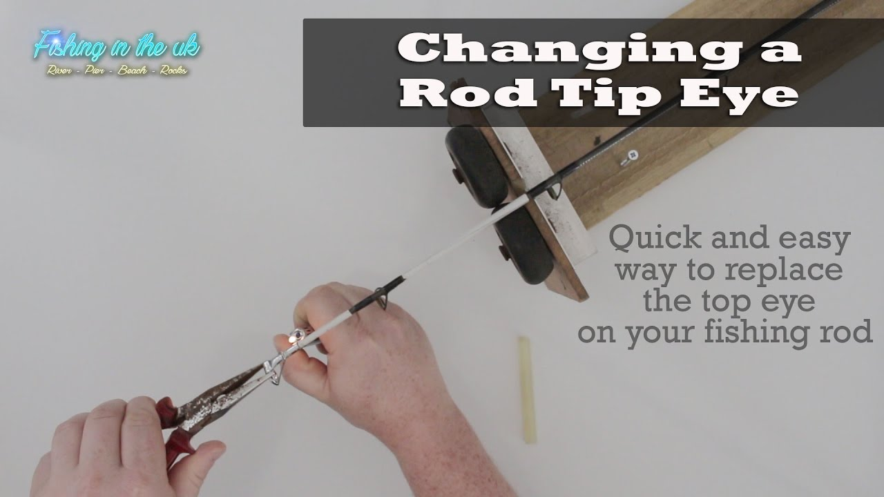 How to replace the top eye on your fishing rod youtube for Replacement eyes for fishing rods