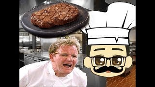 VR Cooking Simlulator - BEATING THE MEAT - ChefU Part 2