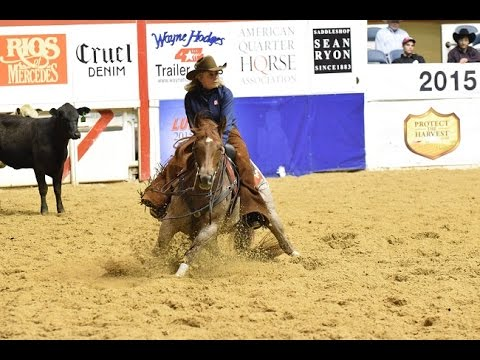 Lindy Burch and Adelle - Reserve Champions 2015 NCHA Super Stakes