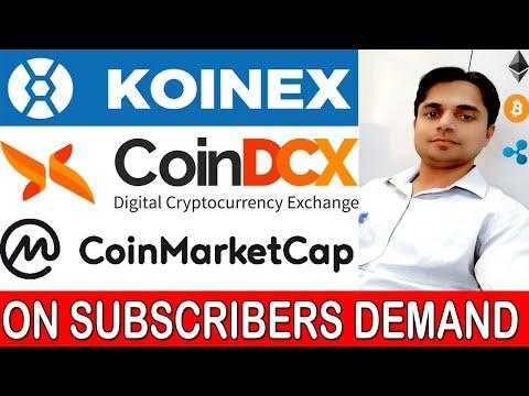Koinex Exchange INR Deposit Withdrawal History | Coindcx INR Deposit Withdrawal Limit  CoinMarketCap