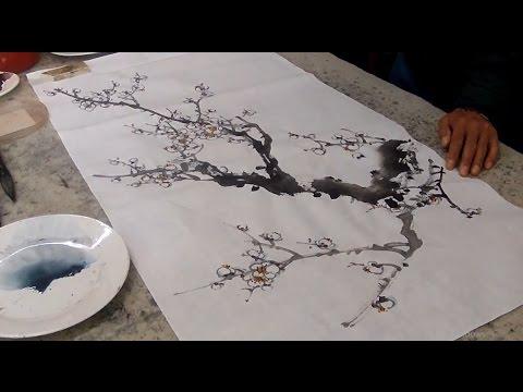 White Plum Blossom Painting - Chinese Painting