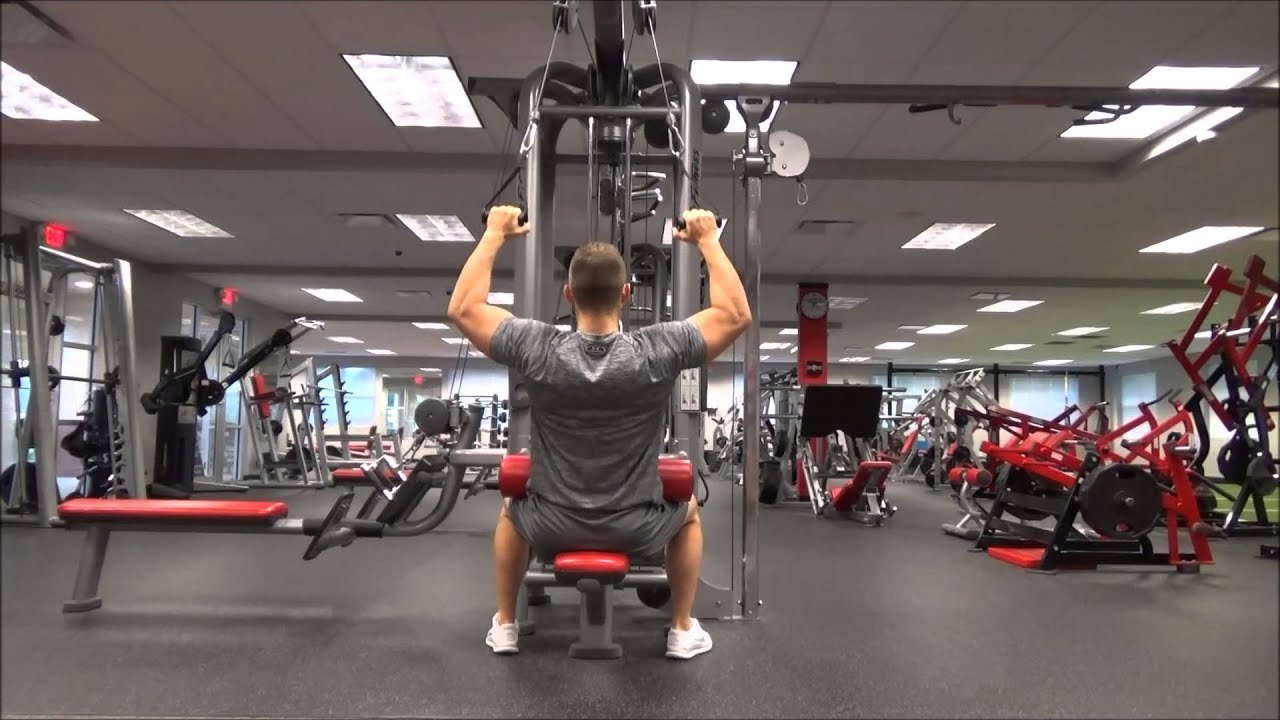 dual cable lat pull down youtube