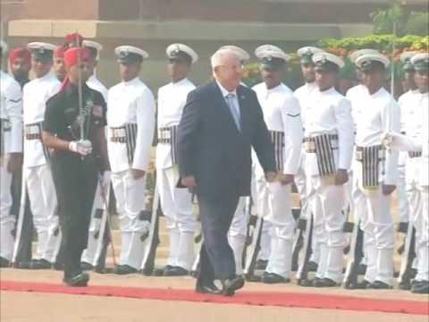 Israeli President accorded ceremonial welcome in New Delhi
