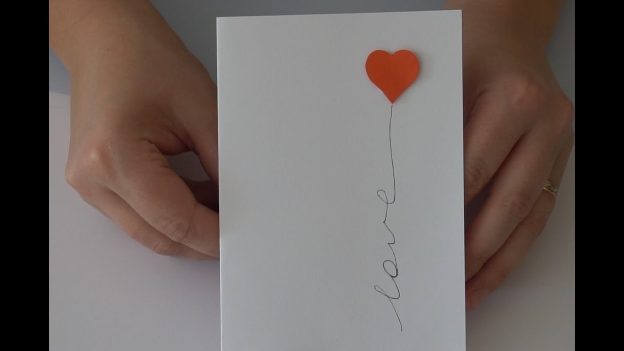 Easy DIY Love Card Handmade Card For Boyfriend Valentine