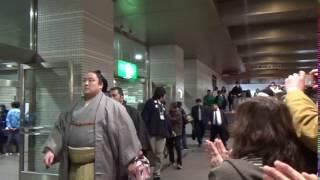 入り待ちでの、佐田の海関です。