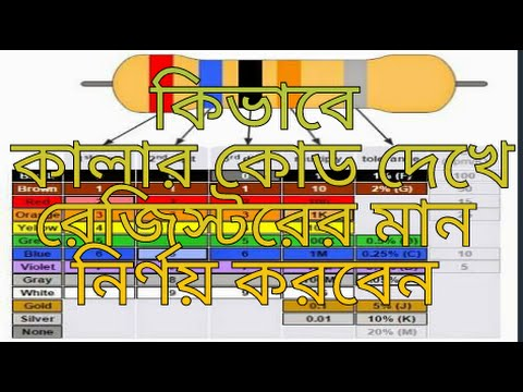 Resistor Color Code Bangla - Youtube