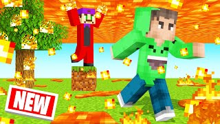 MINECRAFT But LAVA Is FALLING FROM THE SKY! (Dangerous)