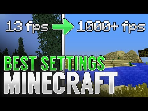 BEST MINECRAFT VIDEO SETTINGS - GET MORE FPS! | Minecraft 1.13.2