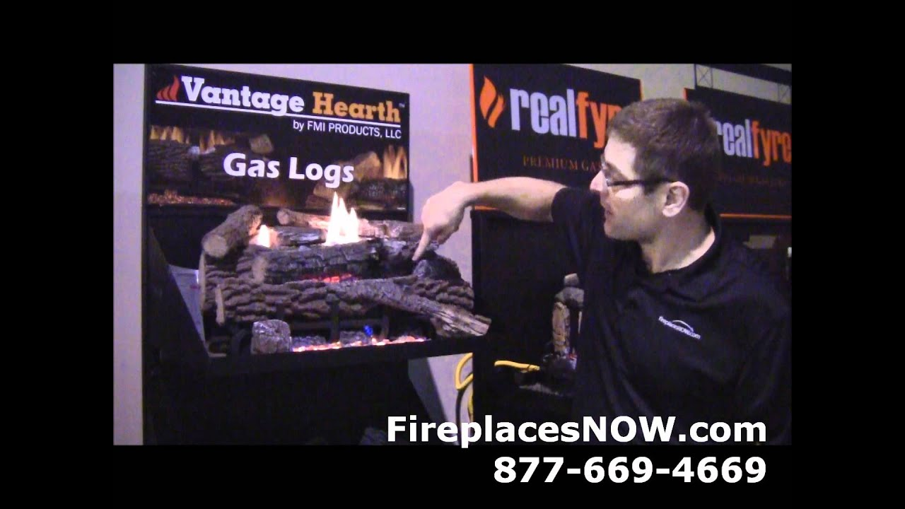 Vantage hearth boulder mountain gas logs youtube for Vantage hearth