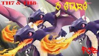 Clash of Clans | TH7.5 vs TH8 Dragloon zapquake 3 star war attack. Dragon ballons lightning EQ