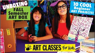 Unboxing Beginner FALL Semester ART BOX! Art Classes For Kids