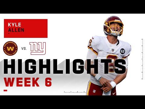Kyle Allen Highlights vs. Giants | NFL 2020