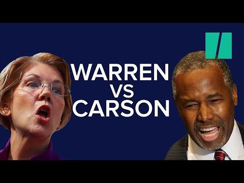 Elizabeth Warren Tells Ben Carson He Should Be 'Fired'