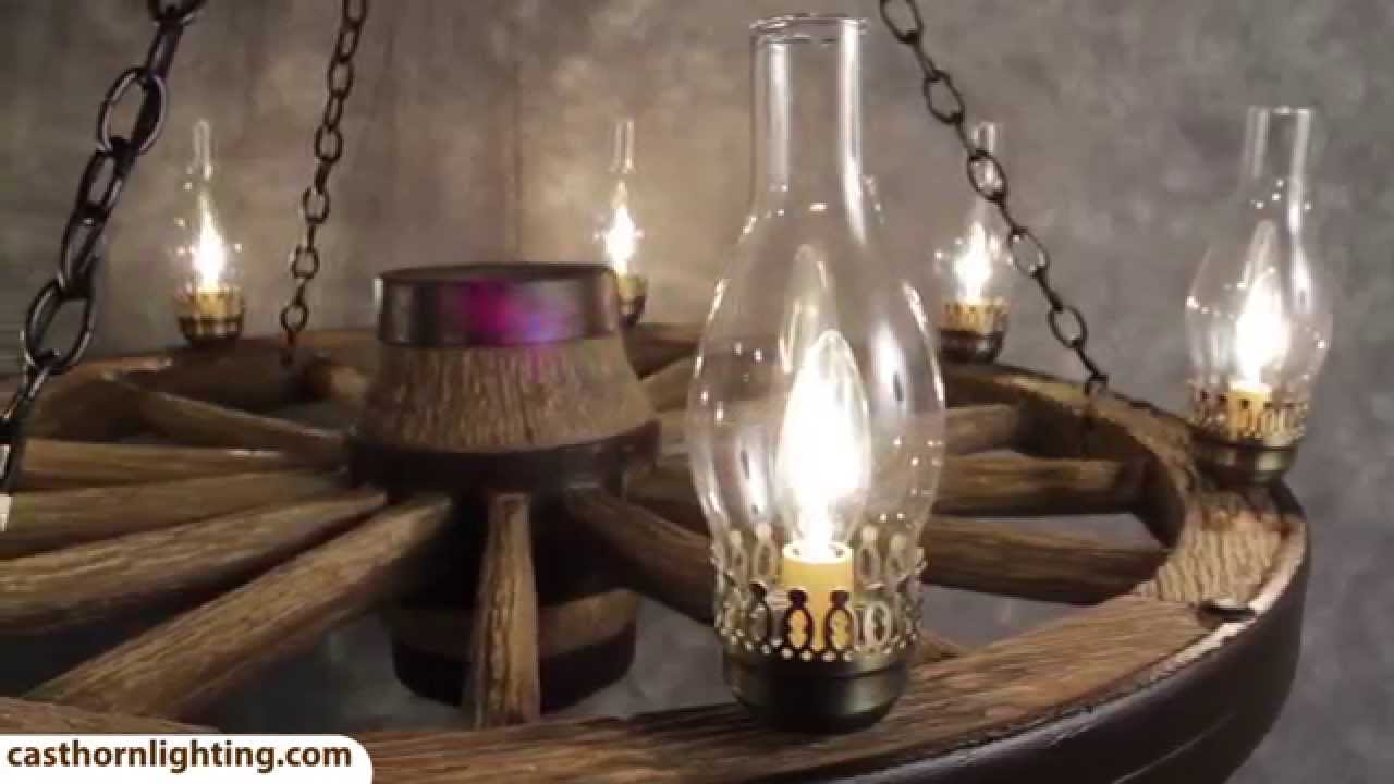 Large wagon wheel chandelier cast horn designs youtube arubaitofo Images
