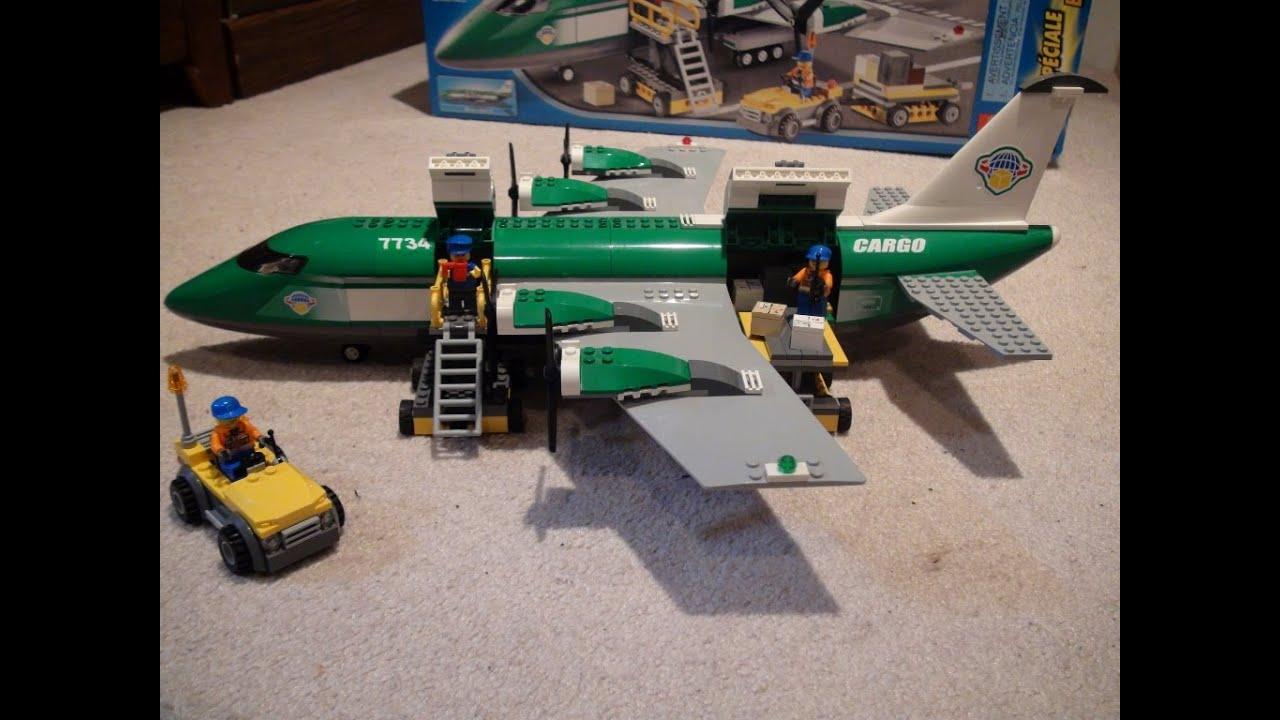 Lego Review: Lego City Cargo Plane 7734 - YouTube