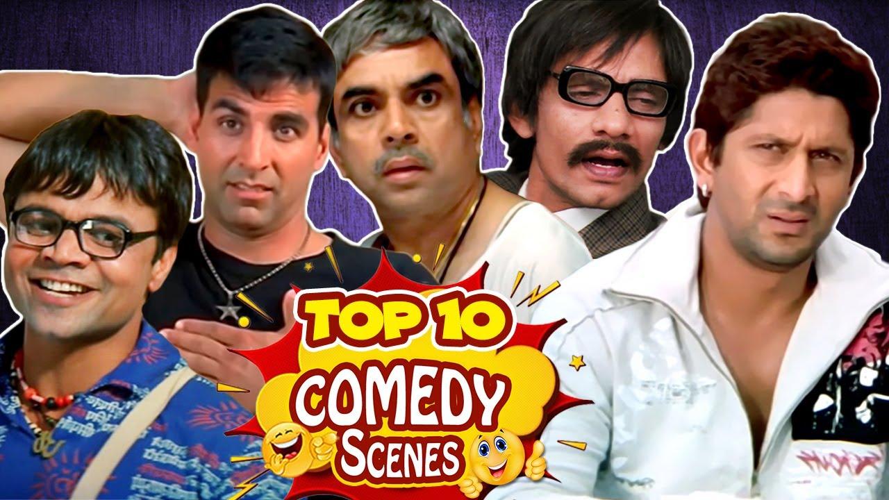 Top 10 Hindi Comedy Scenes | Phir Hera Pheri - Welcome - Mujhse Shaadi Karogi - Golmaal Returns