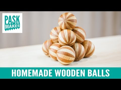 homemade-wooden-balls---with-holesaw-&-lathe