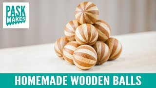 Homemade Wooden Balls - with Holesaw & Lathe