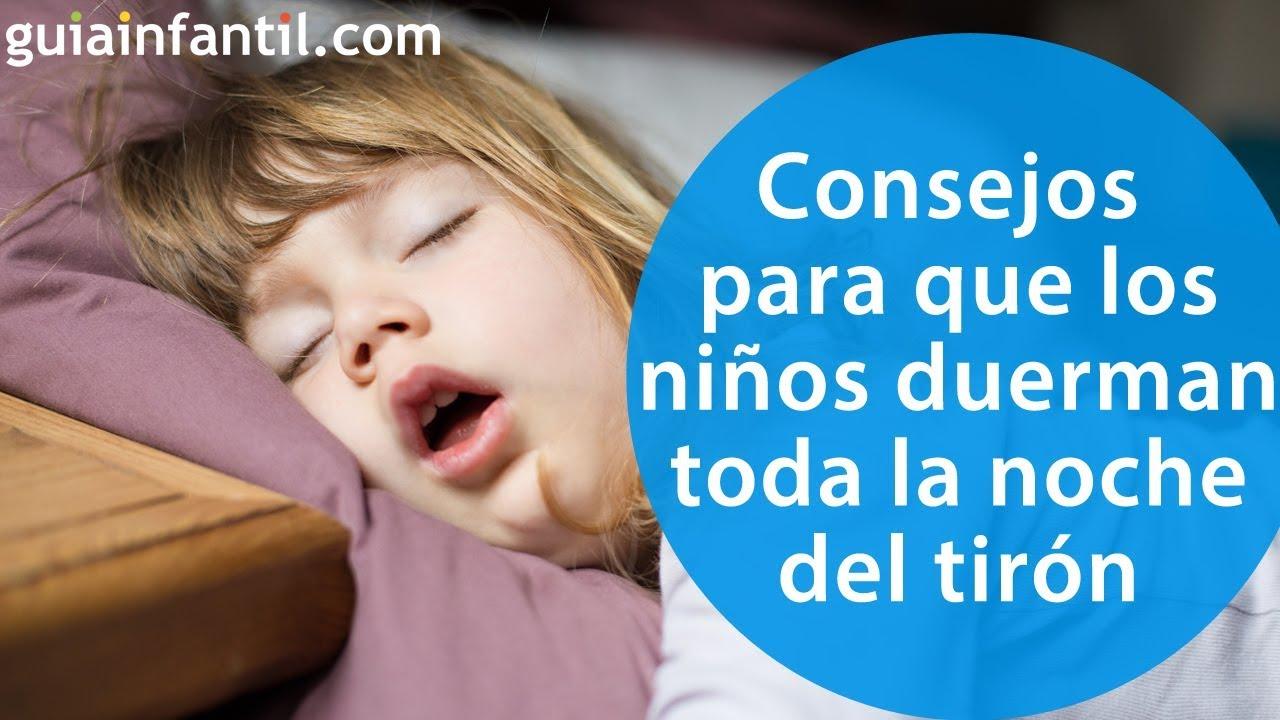 Consejos prácticos para que los niños duerman toda la noche de una vez por todas