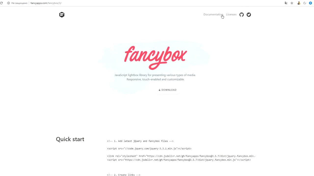 Слик слайдер и fancybox