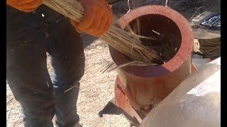 видео топливные брикеты из камыша