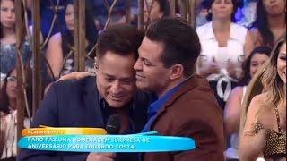 """""""Quando pisa no palco, não brinca em serviço"""", Leonardo homenageia Eduardo Costa"""