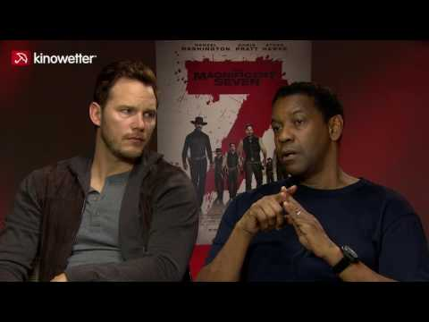 Interview Chris Pratt & Denzel Washington THE MAGNIFICENT SEVEN