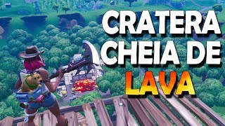 THE CRATER WILL FILL WITH LAVA, SECRET SKIN SEASON 8, DESTRUCTION OF THE MAP-POPCORN FORTNITE