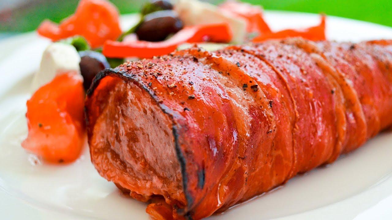 Pork Tenderloin Wrapped in Prosciutto with Beans   Recipe