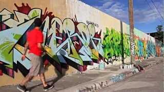 Miami Art Basel 2012 : Graffiti Artist Painting the Streets of Wynwood!