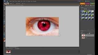 photoshop tutorial - 1 - přebarvení očí