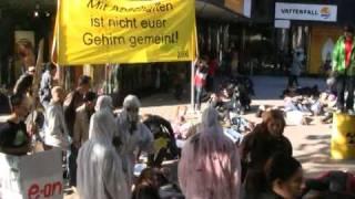 "Greenpeace Jugend Hamburg: Flashmob ""Umfallen gegen Atomkraft"""