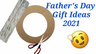 DIY Father'sday gift ideas during quarantine/best craft for father's day /Gift with newspaper