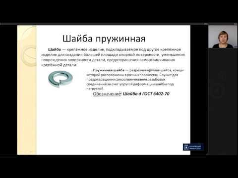 Лекция 10. Резьбовые соединения | Инженерная Графика | ОмГТУ | Лекториум