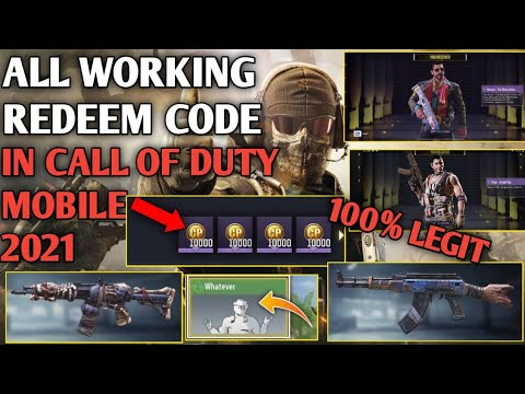 *NEW* ALL WORKING REDEEM CODE 2021 100% WORKING IN CALL OF DUTY MOBILE
