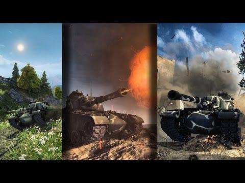World of Tanks » M48 Patton, Three good battles.