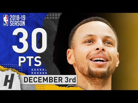 Stephen Curry Full Highlights Warriors vs Hawks 2018.12.03 - 30 Pts, 2 Ast, 3 Rebounds!