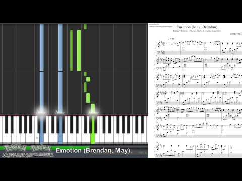 Pokémon ORAS - Let's Go Home Together! (Emotion - May, Brendan) (Synthesia Piano Tutorial)