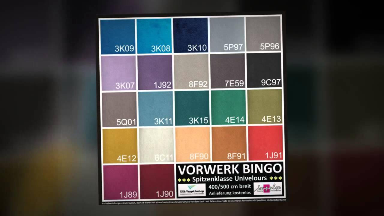 teppichboden vorwerk bingo die auslegware das youtube. Black Bedroom Furniture Sets. Home Design Ideas