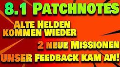 Patchnotes 8.1 - VIELE Bugfixes, unser Feedback kam an!   Fortnite Rette die Welt
