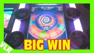 WILLY WONKA - MAX BET BIG WIN - Slot Machine Bonus