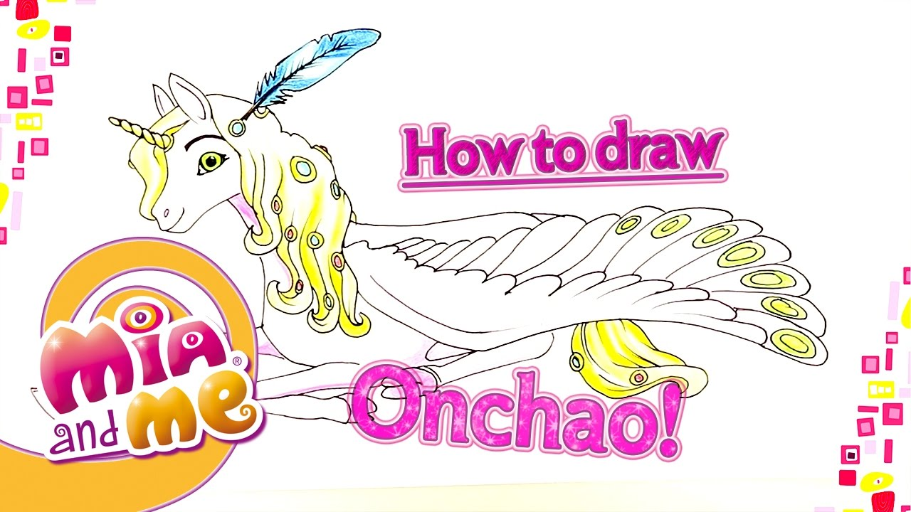 47039ad1f Onchao - How to draw Onchao - Mia and me - YouTube