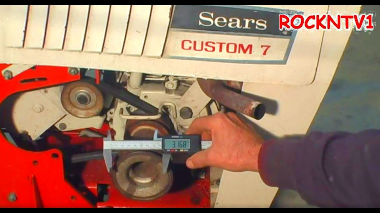 Sears Custom 7 Garden Tractor Pto Pulley Size Youtube